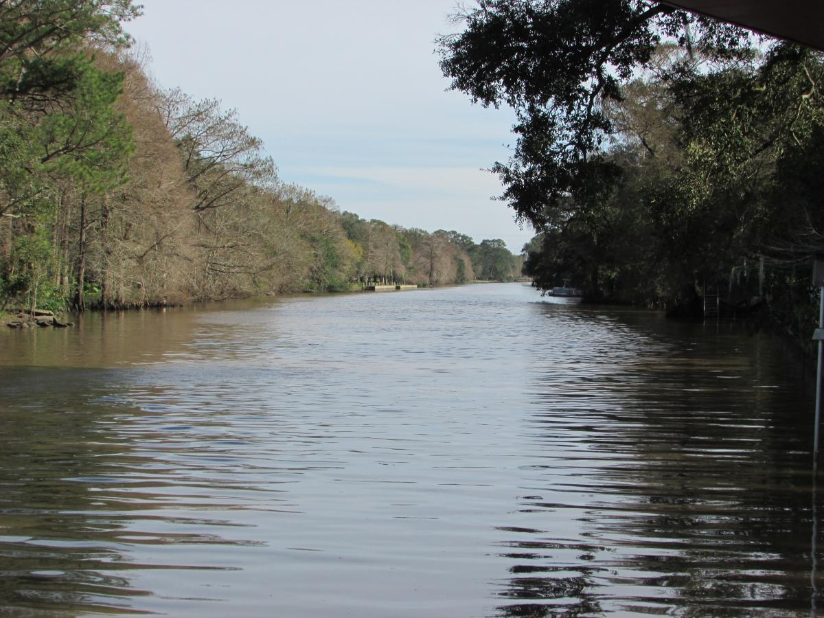 Bayou Teche in New Iberia Louisiana