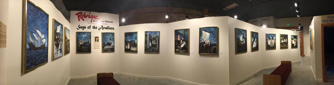 George Rodrigue's saga of the Acadians art exhibit at Bayou Teche Museum