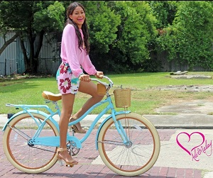 Alex Malay Summer Outfit Girl on Bicycle