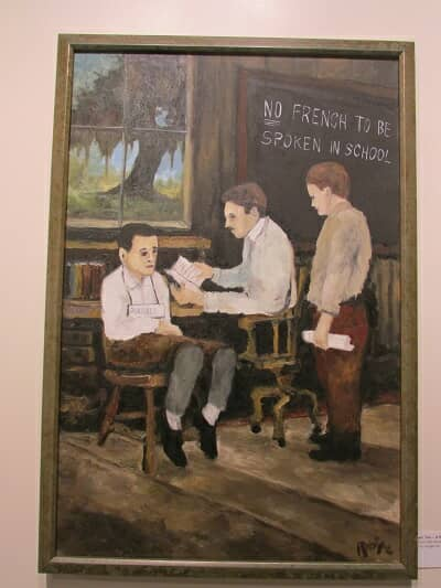George Rodrigue no French in school acadian painting