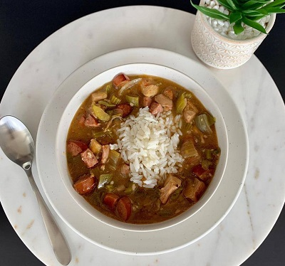 Bowl of Gumbo at Fixin 2be Fit in New Iberia - Photo by  Fixin 2be Fit