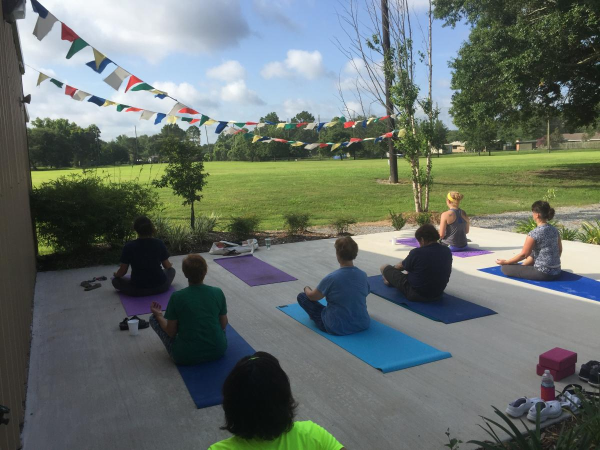 Iberia Parish Parks and Recreation yoga classes