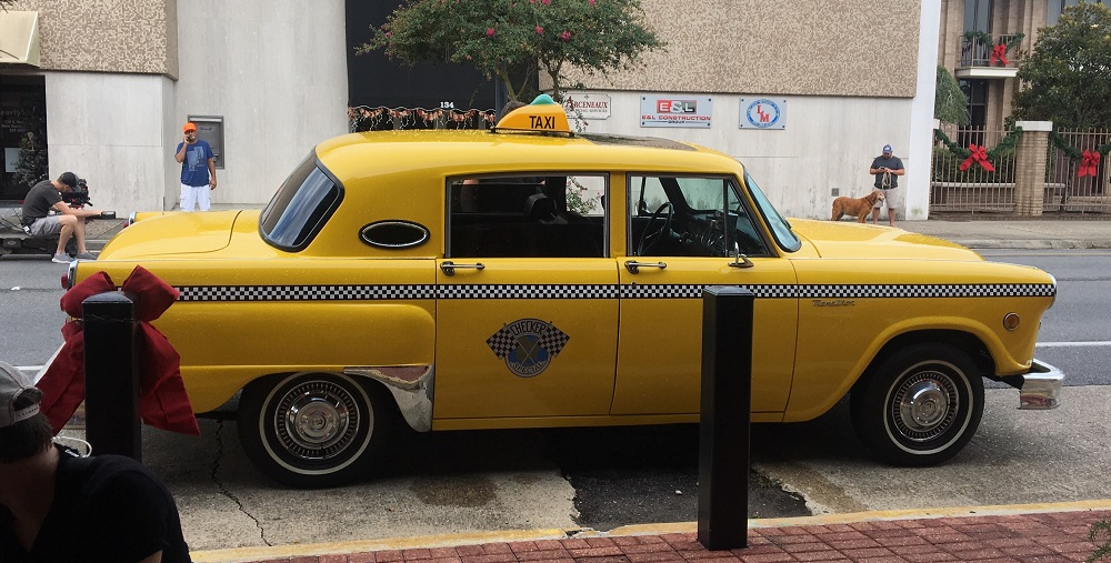 Checker Cab on Main Street