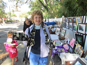 Artist at Arts and Crafts Fair at Shadows on the Teche plantation home in New Iberia Louisiana