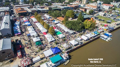 World Championship Gumbo Cookoff bird's view