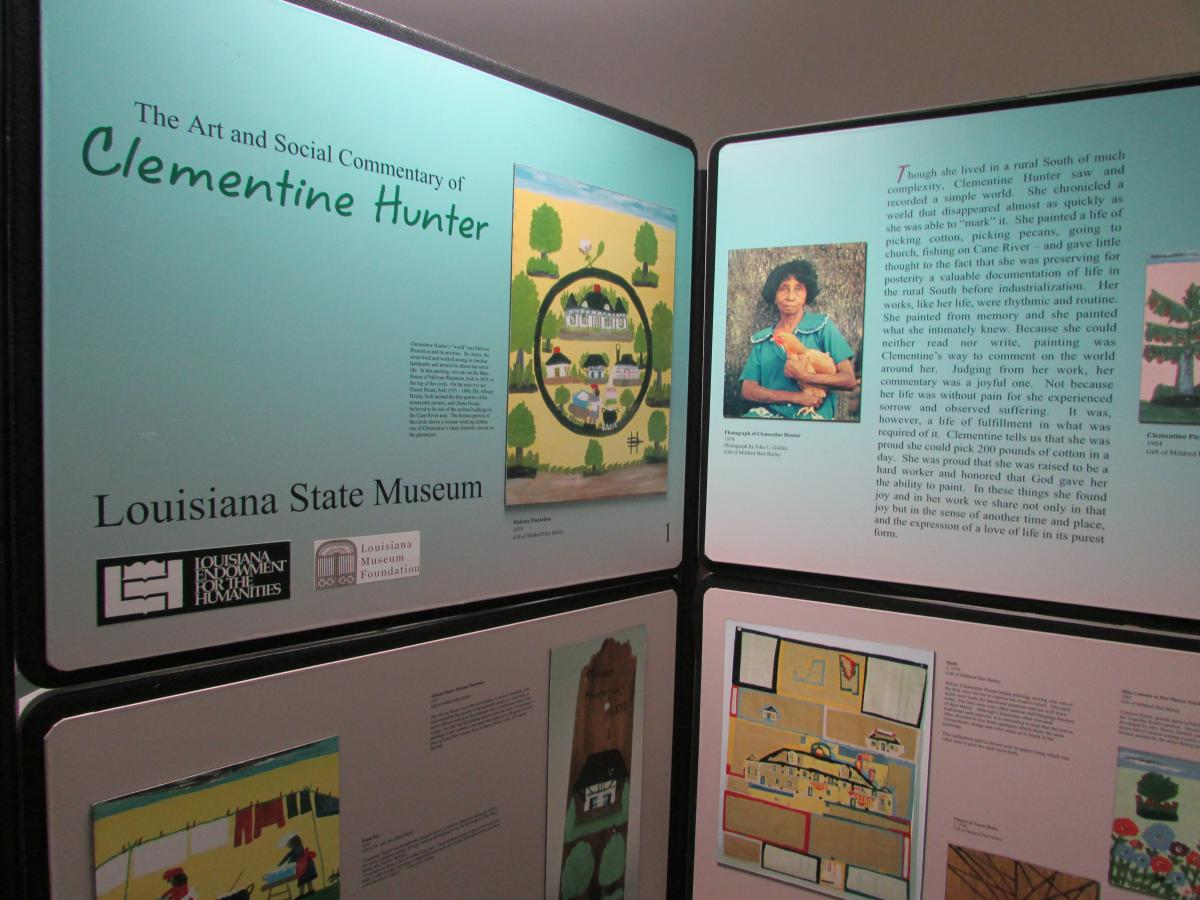 Clementine Hunter Exhibit at Jeanerette Museum
