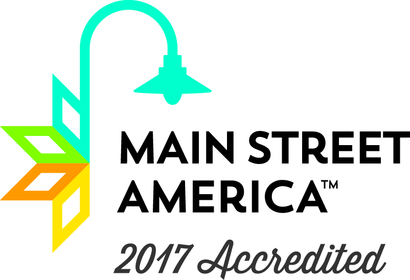 Main Street New Iberia's 2017 National Accreditation Logo
