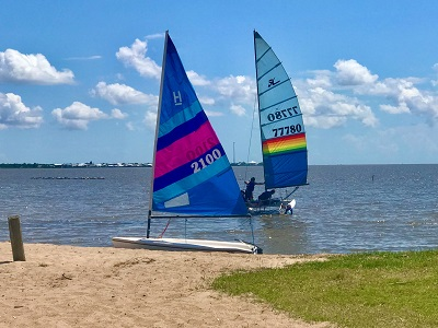 Sailing at Cypremort Point State Park - Courtesy Cypremort Pointe State Park