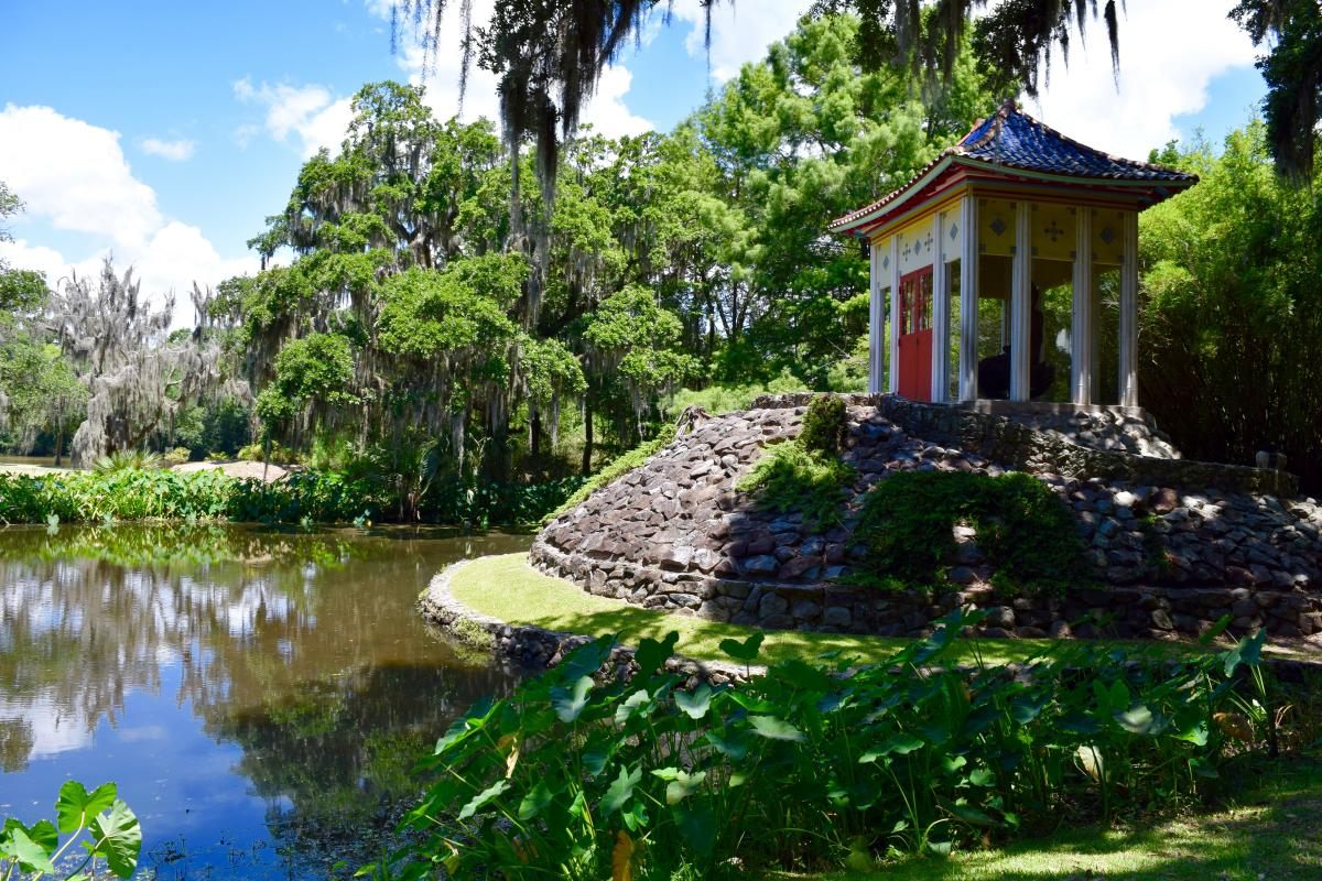 Buddha temple at Jungle Gardens on Avery Island