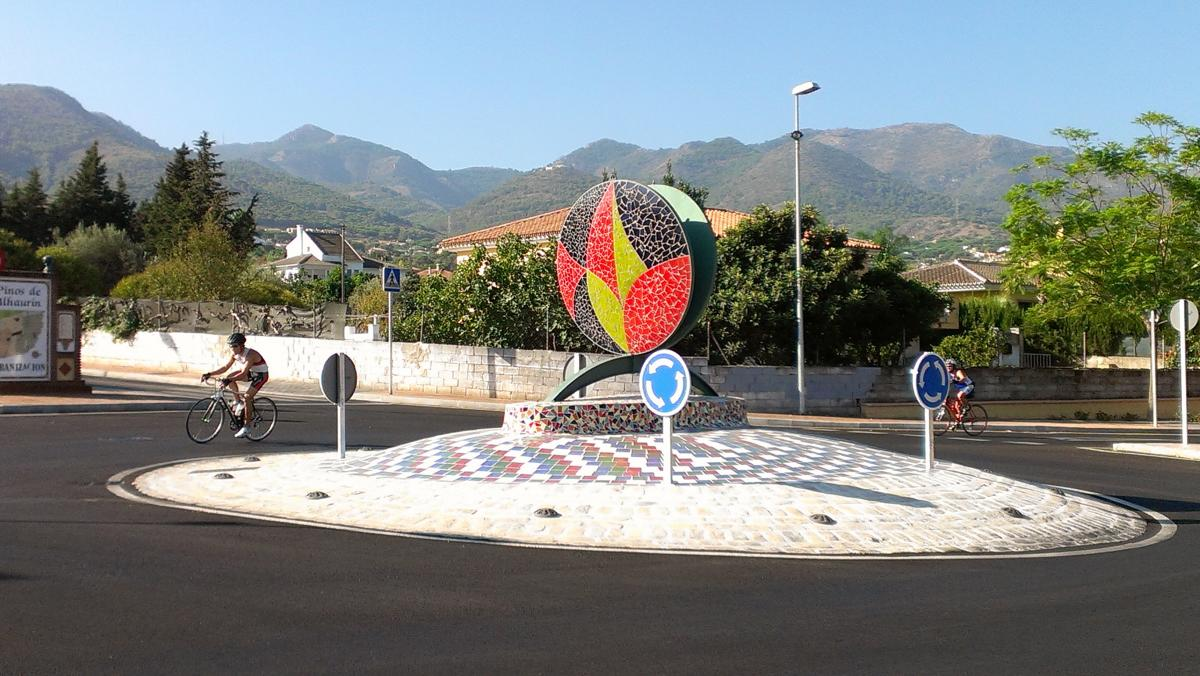 Art sculpture in the Nueva Iberia Roundabout in Alhaurin de la Torre, Spain