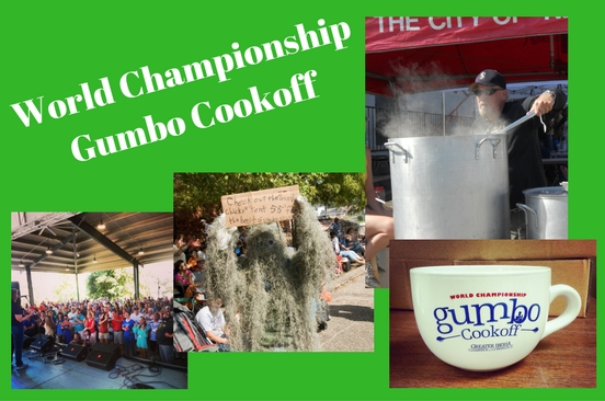 27th Annual World Championship Gumbo Cookoff Oct. 8-9