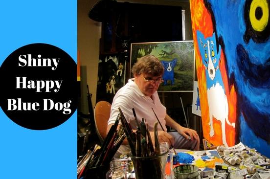 Shiny Happy Blue Dog