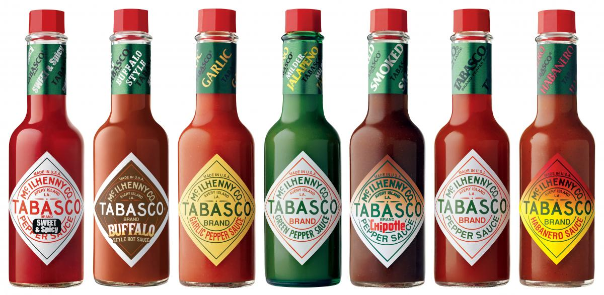 TABASCO bottles