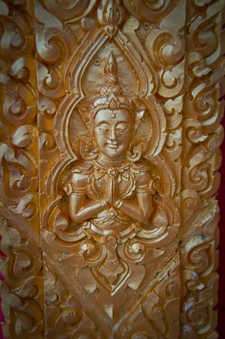 Carving at Laotian Temple - Courtesy of Iberia Parish CVB