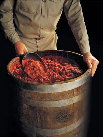 TABASCO Pepper Mash Barrel  - Courtesy of McIlhenny Co.