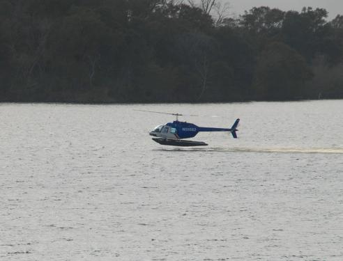 Amphibus Helicopter on Lake Peigneur - Courtesy of Iberia Parish CVB