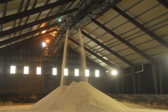 Raw Sugar Warehouse at Factory in Iberia Parish - Courtesy of Iberia Parish CVB