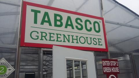 Tabasco green house on the new tabasco tour