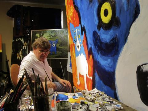George Rodrigue Comes Home