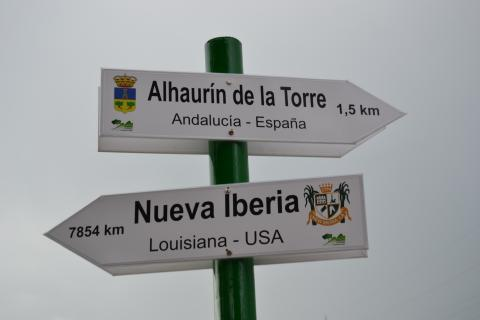 New Iberia sign in Alhaurin de la Torre, Spain, the town's twin city in Spain