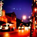 Main Street Historic New Iberia at night - Courtesy of Iberia Parish CVB