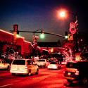 Main Street Historic New Iberia at night- Courtesy of Iberia Parish CVB